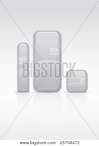 Cosmetics package, vector