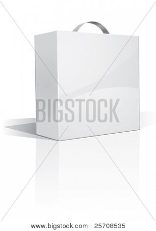 white handy box, your own design, vector