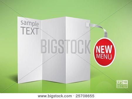 folded  blank menu for your design, eps10 vector