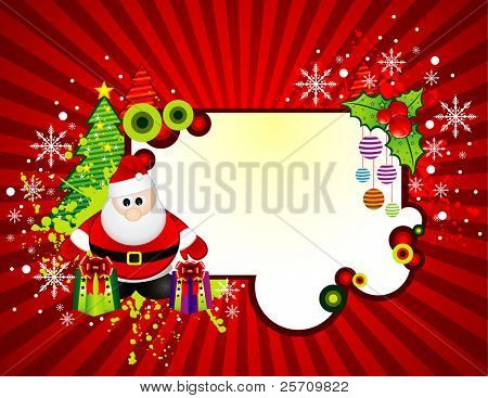 Santa Claus banner  vector illustration