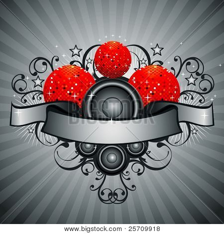 Abstract party design vector illustration
