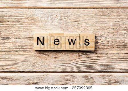 News Word Written On Wood Block. News Text On Table, Concept.