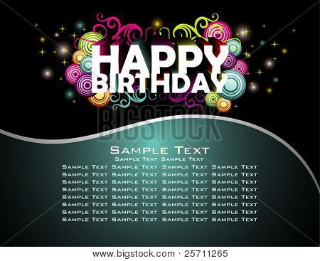 Happy Birthday abstract design background