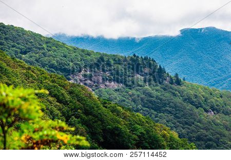 Three Green Ridges In The Blue Ridge Mountains
