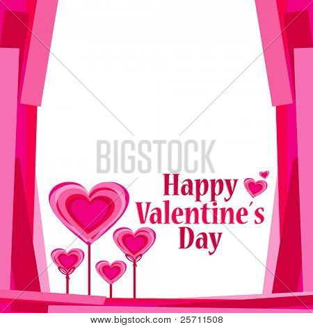 Background with hearts. Vector Illustration