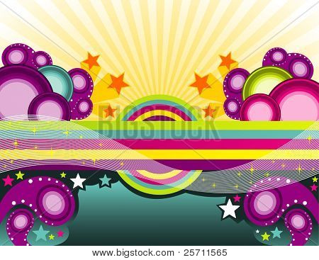 Abstract paradise Color full. Vector illustration