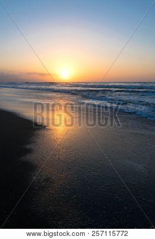 Colorful Sunset On The Beach. Málaga. Spain.