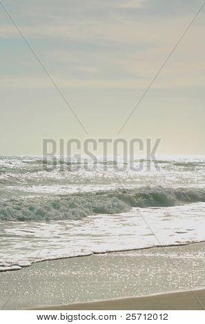 Rough Surf at Dusk