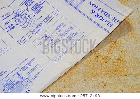 Blueprints for House Construction on Sawdust