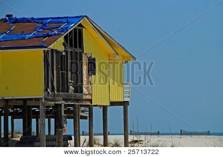 Hurricane Damaged Seaside Home