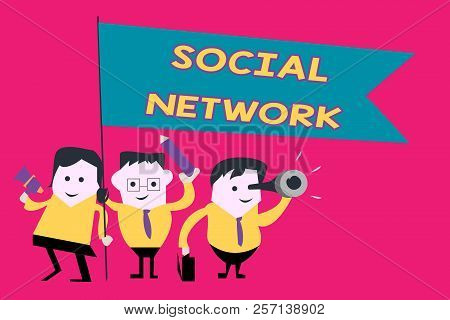 Word Writing Text Social Network. Business Concept For Interactions Sharing Information Interpersona