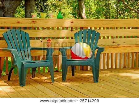 Deck Chairs in Shade
