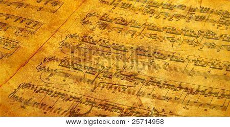 Antiqued Sheet Music