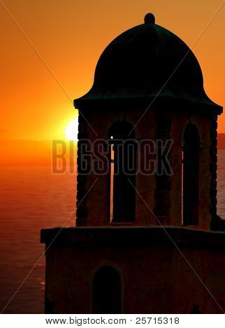 Oceanside Tower at Sunset