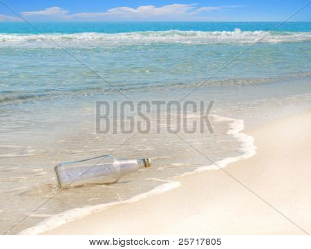 Mysterious message in a bottle washed up on gorgeous beach
