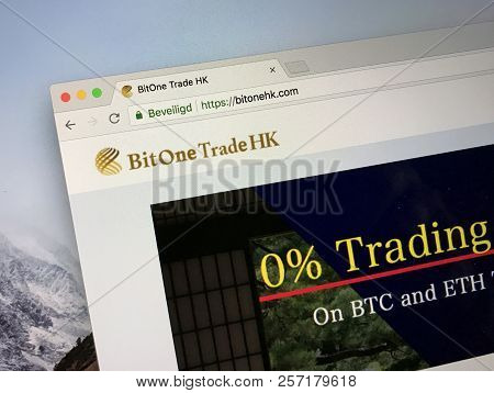 Amsterdam, The Netherlands - September 8, 2018: Website Of Bitone Trade Hk, A Cryptocurrency Trading
