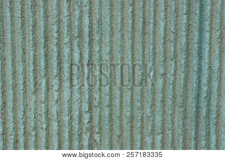 Gray Green Stone Texture From A Striped Concrete Wall