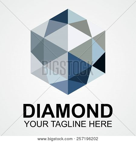 Diamond Company Logo Vector Illustration. Suitable For Jewelry Company, Modern Company, Etc.