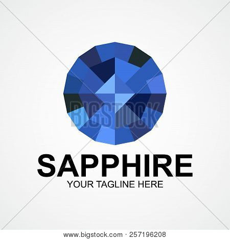 Sapphire Company Logo Vector Illustration. Suitable For Jewelry Company, Modern Company, Etc.
