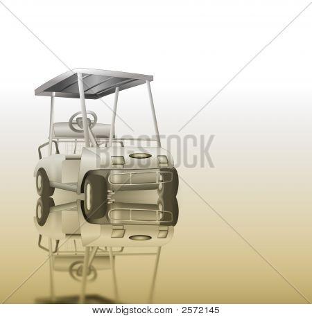 Golf Cart Reflection