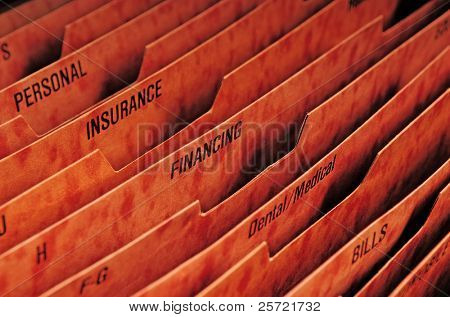 Filing system for expenses and finances