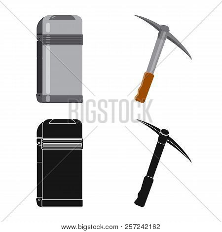 Vector Design Of Alpinism And Peak Icon. Set Of Alpinism And Camp Stock Vector Illustration.