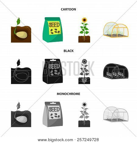 Company, Ecology, And Other Web Icon In Cartoon, Black, Monochrome Style. Husks, Fines, Garden Icons