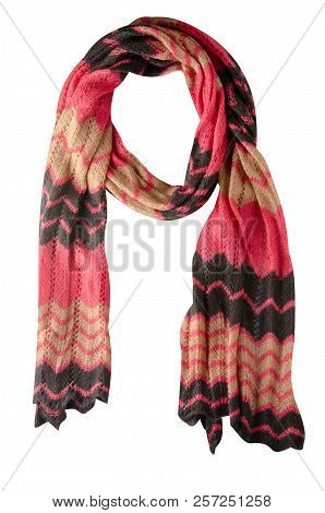 Scarf Isolated On White Background.scarf  Top View .