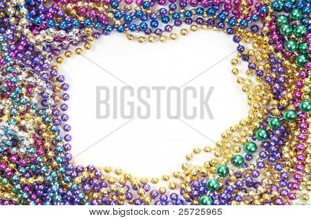 holiday or mardi gras beads makingframe poster