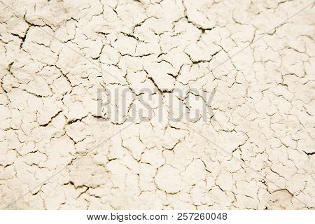 Dried Rough Mud, Cracked Surface, Texture Background