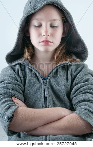 girl looking sad and depressed