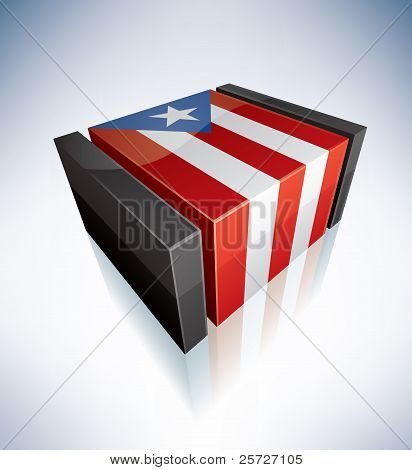 3D bandera del estado libre asociado de Puerto Rico