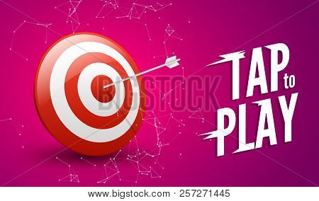 Sport Target Win Concept. Business Success Symbol. Play Dart Game Illustration Design.