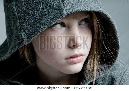 Young girl looking away
