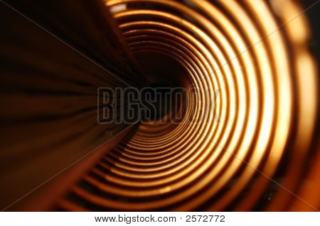 Its your view through the hole of spiral binding or album cover with spiral binding. poster