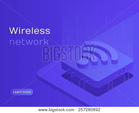 Iot Online Synchronization And Connection Via Smartphone Wireless Technology. Wireless Network. Mode