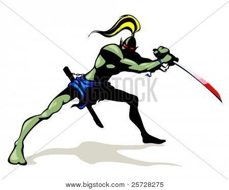 Goblin with brush sword