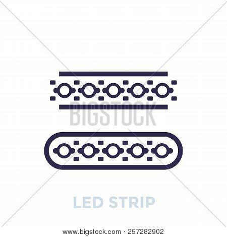 Led Stripes Icon, Eps 10 File, Easy To Edit
