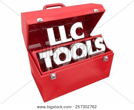 LLC Tools Limited Liability Corporation Business Company Toolbox 3d Illustration
