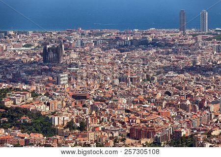 Panoramic View Of Barcelona Spain