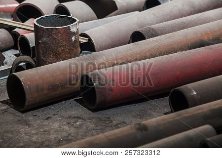 Grunge Texture Of Metal Pipes Industrial Background
