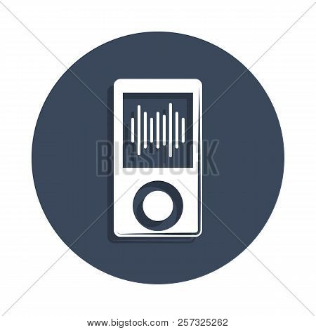 Music Player Icon In Badge Style. One Of Music Collection Icon Can Be Used For Ui, Ux