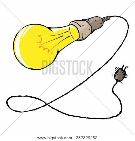 Bulb Icon. Vector Illustration Of A Bulb Lamp. Hand Drawn Lamp.