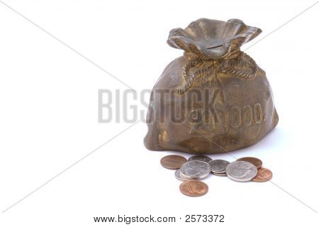 Piggy Bank In Form Of Purse