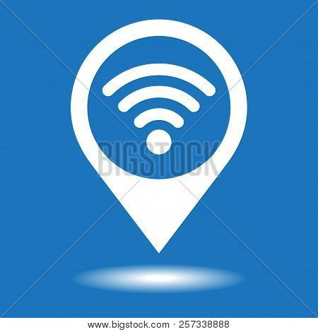 Map Pointer With Wifi Vector Icon.wifi Location Marker Symbol.