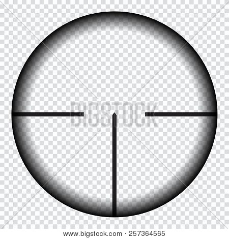 Realistic sniper sight with measurement marks. Sniper scope template isolated on transparent background. Sniper scope crosshairs view. Realistic optical sight. poster