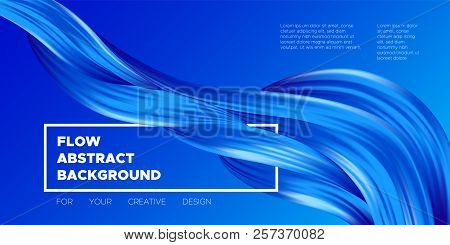 Abstract Color Background. Blue Wavy Fluid Shapes. Vector Illustration Eps10 For Your Creative Desig