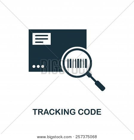 Tracking Code Icon. Monochrome Style Design From Logistics Delivery Icon Collection. Ui. Pixel Perfe