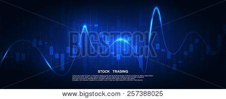 Finance Statistics And Data Analytics. Stock Exchange Market, Investment, Finance And Trading. Tradi