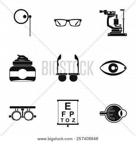 Treatment Vision Icons Set. Simple Illustration Of 9 Treatment Vision Icons For Web